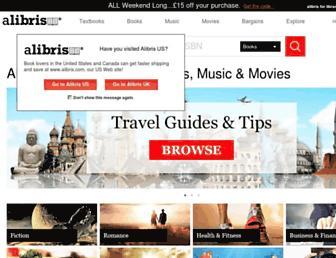 Main page screenshot of alibris.co.uk