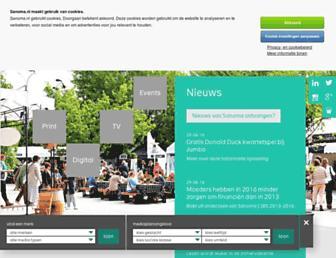 Main page screenshot of sanoma.nl