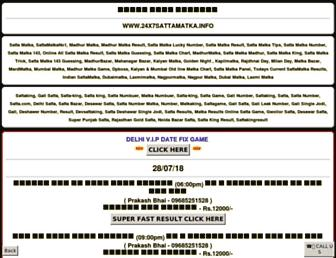 24x7sattamatka.info screenshot