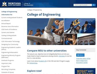 coe.montana.edu screenshot