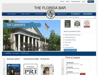 Thumbshot of Floridabar.org