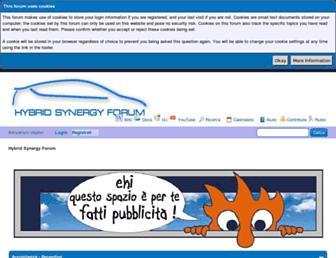 Main page screenshot of hybrid-synergy.eu