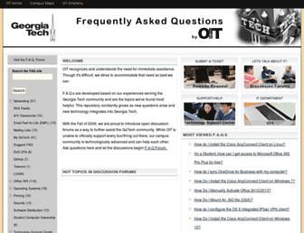 faq.oit.gatech.edu screenshot