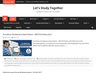 letsstudytogether.co screenshot