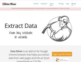 data-miner.io screenshot