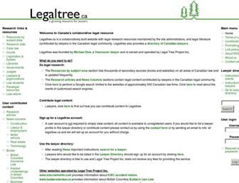 legaltree.ca screenshot