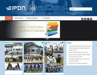 Main page screenshot of ipdn.ac.id