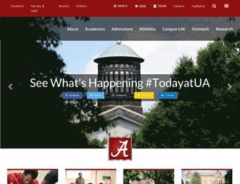 ua.edu screenshot