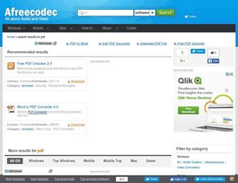 pdf.afreecodec.com screenshot