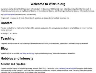 Thumbshot of Wizzup.org