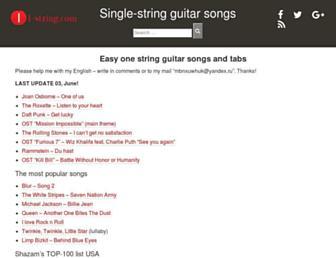 1-string.com screenshot