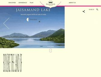 tourism.rajasthan.gov.in screenshot