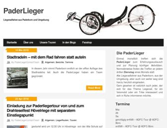 Main page screenshot of paderlieger.info