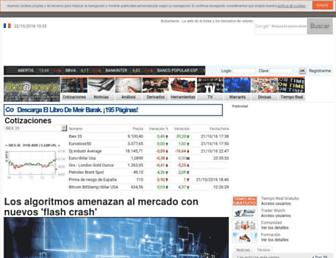 Main page screenshot of bolsa.adn.es