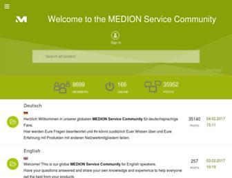 community.medion.com screenshot