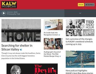 Main page screenshot of kalw.org