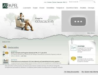aspapel.es screenshot