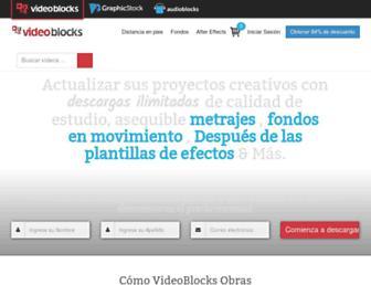 es.videoblocks.com screenshot