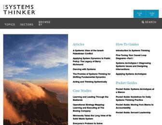 thesystemsthinker.com screenshot