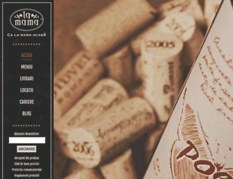 Main page screenshot of lamama.ro