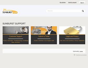 support.sunburst.com screenshot