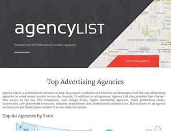 agencylist.org screenshot
