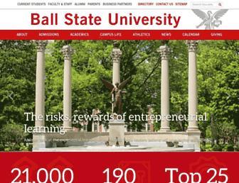 Main page screenshot of bsu.edu