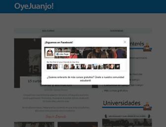 oyejuanjo.com screenshot