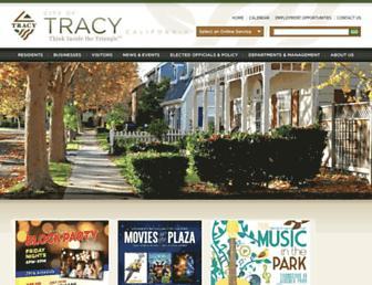 ci.tracy.ca.us screenshot