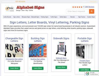 alphabetsigns.com screenshot