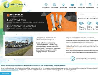 Main page screenshot of rzeszow4u.pl