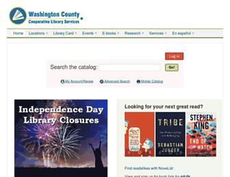 Main page screenshot of wccls.org