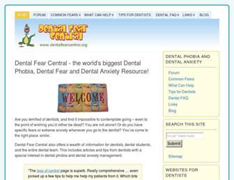 Main page screenshot of dentalfearcentral.org