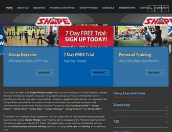 Main page screenshot of inshape.net
