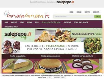 Main page screenshot of gnamgnam.it