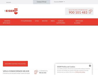 es.eserp.com screenshot