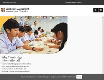 cambridgeinternational.org screenshot