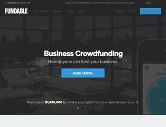 fundable.com screenshot