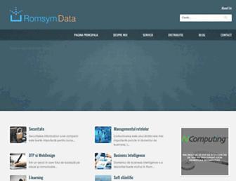 Main page screenshot of romsym.ro