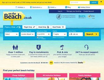 Main page screenshot of onthebeach.co.uk