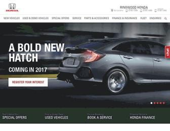ringwoodhonda.com.au screenshot