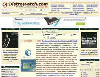 distrowatch.com screenshot