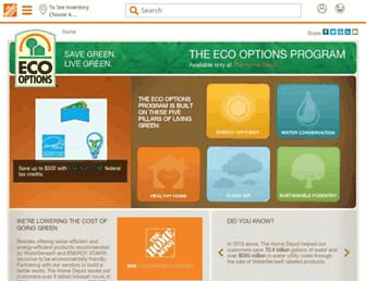 ecooptions.homedepot.com screenshot