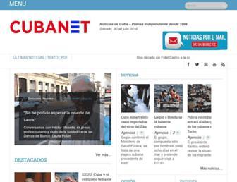 Main page screenshot of cubanet.org
