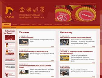 Main page screenshot of pferde-brandenburg-anhalt.de