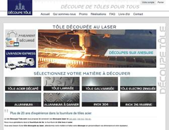 decoupe-tole.com screenshot