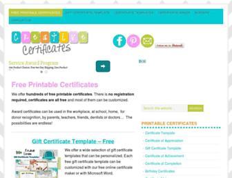 creativecertificates.com screenshot