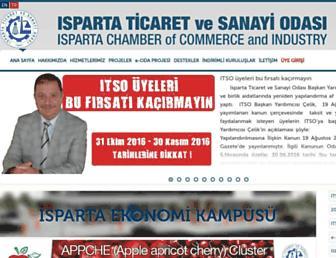 Main page screenshot of itso.org