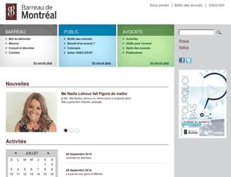 barreaudemontreal.qc.ca screenshot