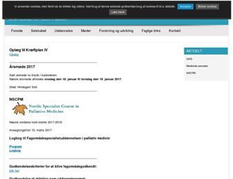 Main page screenshot of palliativmedicin.dk
